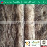 Wholesale poly acrylic fabric manufacture wolf long pile fake fur fabric ZJ092