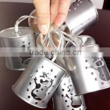 Battery/solar powered Metal christmas/snowman lantern string light holiday decoration led string light SO4805R