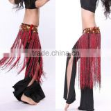 SWEGAL wholesale belly dance hip scarf,belly dance tassels waist belt,tribe style scraf SGBDJ13009