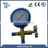 refrigeration manifold gauge with vacuum and pressure