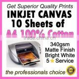 A4 DIY INKJET PRINTABLE CANVAS FRAME KIT, CREATE YOUR OWN CANVAS PRINTS AT HOME