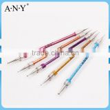 ANY Nail Design Using 5 Colors Glitter Handle Nail Art Dotting Pen Set