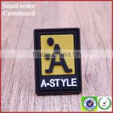 Custom heat transfer press silicone tag labels for clothing luggage