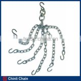 Galvanized chain with clevis or eye grab hooks on both end high test tow chains for trucks