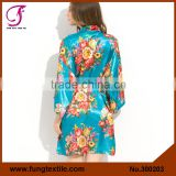 FUNG 3002 New Floral Silk Cheap Bathrobes