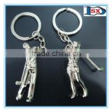 Top grade zinc alloy 3D sports golf shaped keychain for sports day keychain