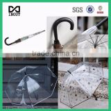 clear fashion mustache transparent stick bubble umbrella