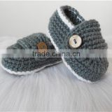 Gender Gray Color Cute Baby boys Booties Crochet Shoes