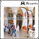 5m height indoor promotional printed flags/printed decorative knifed flags and banners for sale