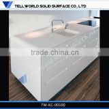 Contemporary Style solid surface kitchen countertop,pure white acrylic kitchen countertop