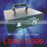 Single Blue 300mW Laser Light with Scanner