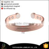 100% Guaranteed Quality Pure Solid Copper Energy Bangle Magnetic Bracelet Men or Women for Arthritis                                                                         Quality Choice