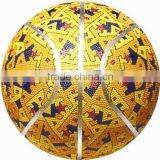 Colorful Rubber cover Basketball for training and match