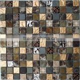 Black mix color mosaic wall backsplash tile HG-CS002