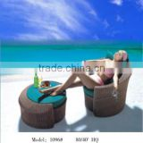 Factory wholesale Simple Style outdoor beach rattan foot rest chair with cushion