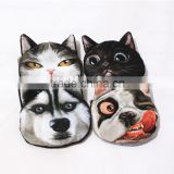 Cat Dogs Print Money Bag 3D Visual Shock Fashion Design Coin Purse Small Wallets