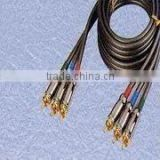 High Resolution DVD Component Video Cables with 3RCA-3RCA for TV, VCR and Camera Applications