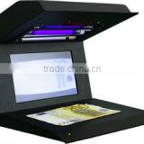 Counterfeit money detector E-UVD with UV,IR detections, big lcd display