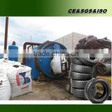 Engineers oversea small tyre pyrolysis reactor for sale