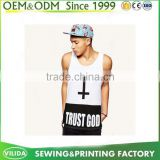 Hot Sale Casual Breathable Printed Plain White Tank Top for Men