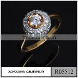 fashion simple jewelry ring for ladies/saudi gold jewelry ring from China