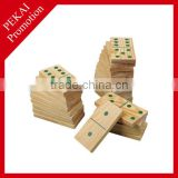 2015 promotion gift educational wholesale wooden domino sets
