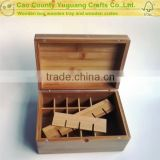 24 bottles bamboo essential oil box, Volatile oil bottle box,luminus box