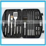 18 Pcs Stainless Steel BBQ Tools Picnic Grill Tools With Box Intergrated Barbrcue Tool Set