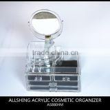 Wholesale crylic Cosmetics Lipsticks Makeup Organizer Holder Box with 4 Removable Drawers