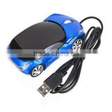 USB 2.0 Car Shape Optical mouse Mice for Laptop PC Notebook Computer Blue New