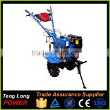 Gear Transmission Diesel Fuel Power Engine Rotary Tiller Cultivators With Plough For Sale