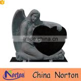 Cemetery used granite angel heart headstone NTGT-447A
