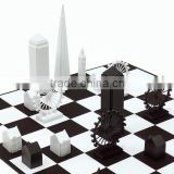 JYCB-002Factory wholesale custom acrylic chess board set,clear glass chess set