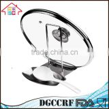 Stainless Steel Lid and Spoon Rest, Multifunctional Lid and Spoon Holder