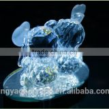 Crystal islamic art transparent unique double bear model wedding soap gift or crystal baby gifts