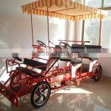 4 seats pedal go kart,4 person surrey bike, quadricycle surrey sightseeing bike quadricycle for sale