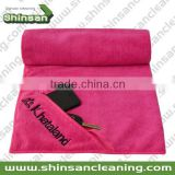 super soft microfiber sports towel with pocket /Microfiber Waffle Weave Drying Towel/Beach towel microfiber sport towel Embroide