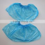 Blue Disposable PE Waterproof Shoe Cover,Disposable plastic CPE/PE shoe cover,Blue PP non woven nonwoven shoe cover