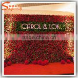 factory price artificial flower for wall decoration paper silk flower wall for wedding supplies