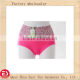 good design on stock OEM free size hign cut bamboo women underwear