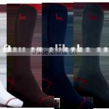 Custom embroidery logo solid color crew breathable wicking antibacterial 100% bamboo socks