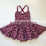 Baby girl toddler girls vintage fabric burgundy plum maroon floral dress romper