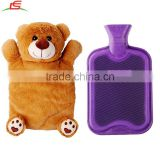High Quality Custom Plush Bear Hot Water Bottle Cover For Winter