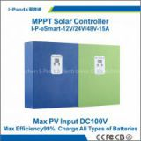 Smart Home use MPPT solar controller 48V 15A eSmart 15A 48V PV regulator for Street lights RV boat Gel NiCd