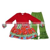 Yawoo baby dress match ruffle pants boutique clothing cute wholesale import baby clothes china