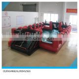 juegos inflables inflatable human foosball court/ inflatable human foosball for children