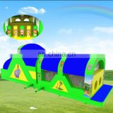 new enclosed jungle inflatable obstacle course conforming to EN14960