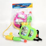 2016 summer outdoor plastic kids toy guns fight water gun with a backpack