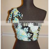 Multi color one shoulder biikini dress