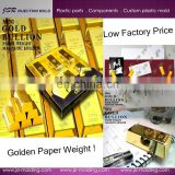 Dongguan manufacturer supply cheap gold magnetic paper weight